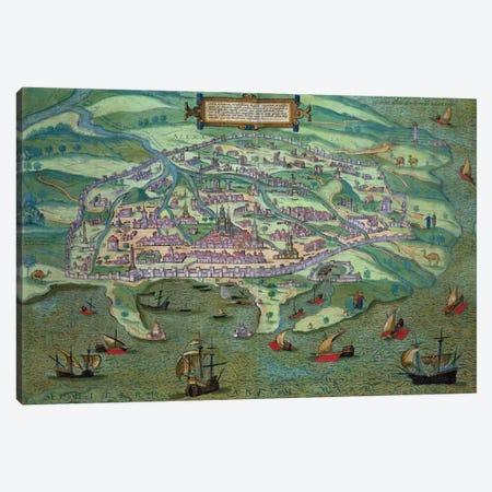 Map of Alexandria, from 'Civitates Orbis Terrarum' by Georg Braun  Canvas Print #BMN1665} by Joris Hoefnagel Art Print