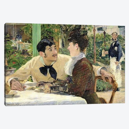 The Garden of Pere Lathuille, 1879  Canvas Print #BMN166} by Edouard Manet Canvas Art