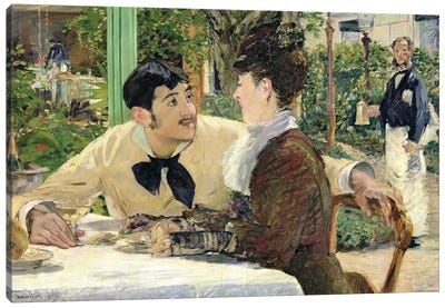 The Garden of Pere Lathuille, 1879  Canvas Art Print