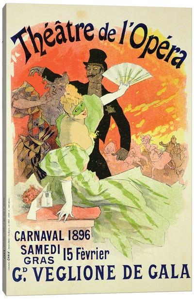 Carnival At Theatre de l'Opera Advertisement, 1896  Canvas Art Print