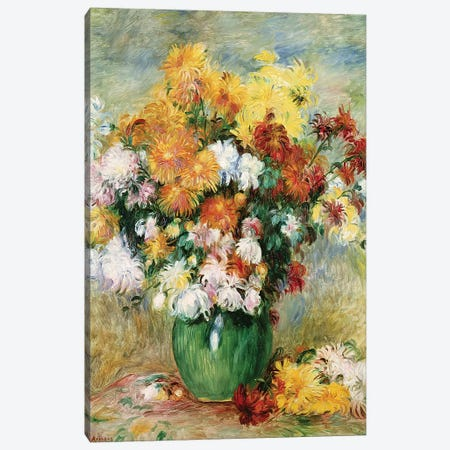Bouquet of Chrysanthemums, c.1884  Canvas Print #BMN1675} by Pierre-Auguste Renoir Canvas Artwork