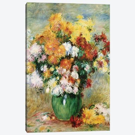 Bouquet of Chrysanthemums, c.1884  Canvas Print #BMN1675} by Pierre-Auguste Renoir Canvas Artwork