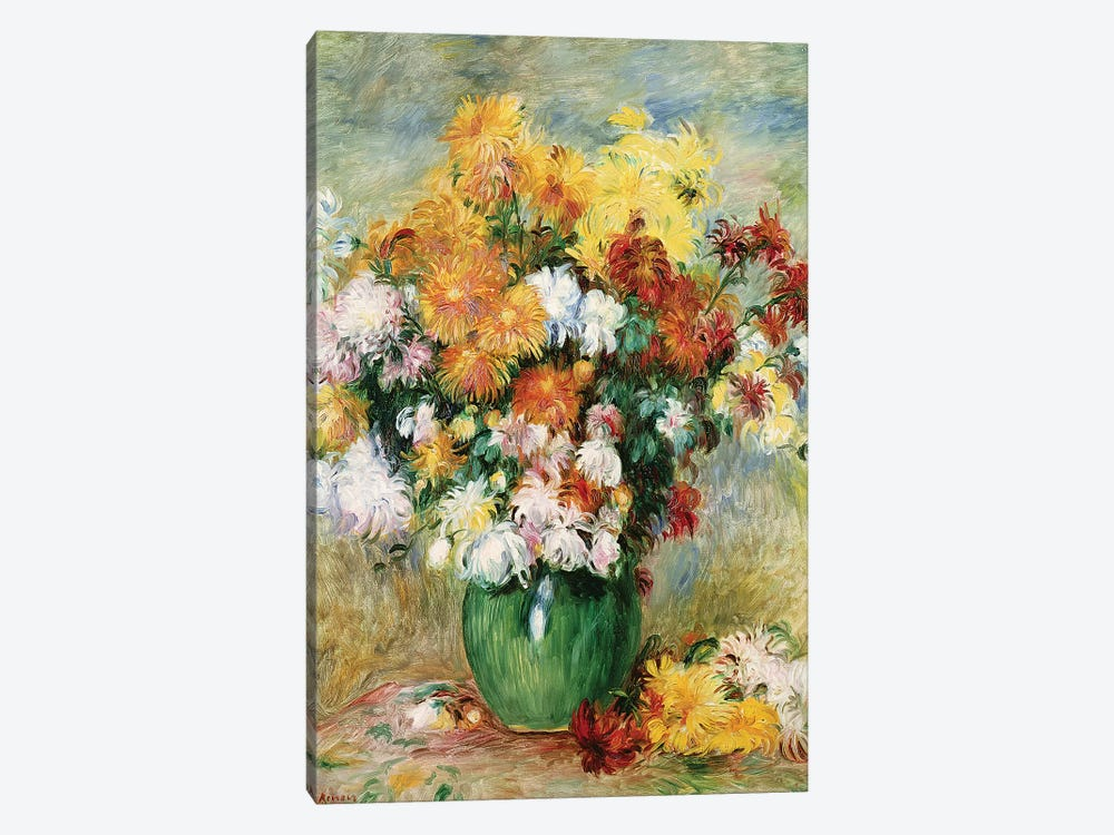 Bouquet of Chrysanthemums, c.1884  by Pierre-Auguste Renoir 1-piece Art Print