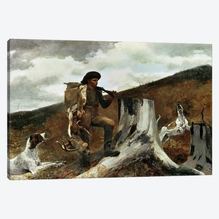 The Hunter and his Dogs, 1891  Canvas Print #BMN1676} by Winslow Homer Canvas Wall Art
