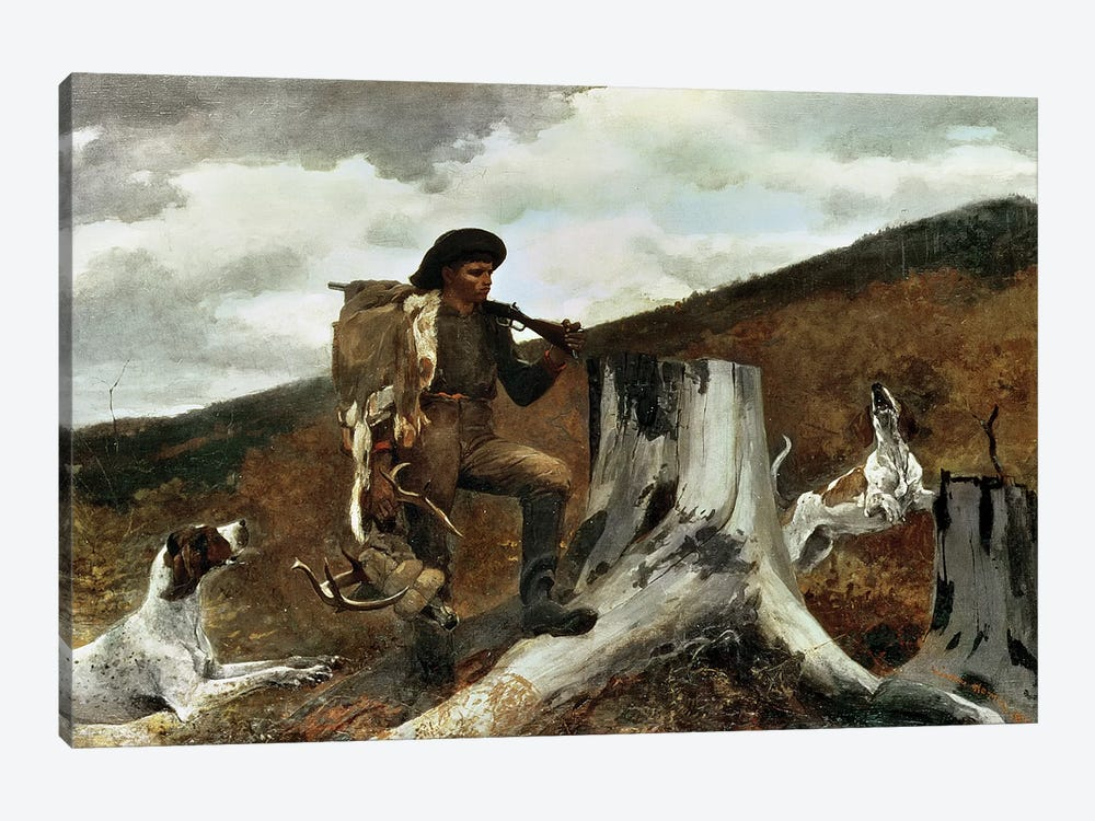 The Hunter and his Dogs, 1891  by Winslow Homer 1-piece Canvas Wall Art