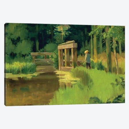 In a Park  Canvas Print #BMN1678} by Edouard Manet Canvas Art Print