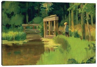 In a Park  Canvas Art Print
