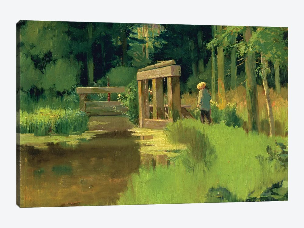 In a Park  by Edouard Manet 1-piece Canvas Art