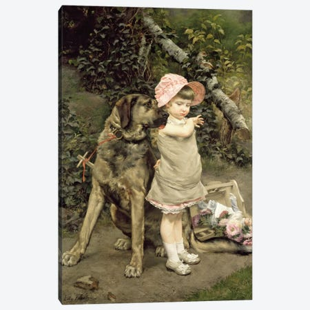 Dog's Company  Canvas Print #BMN1679} by Edgard Farasyn Art Print