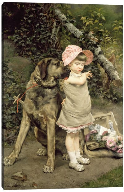 Dog's Company Canvas Art Print