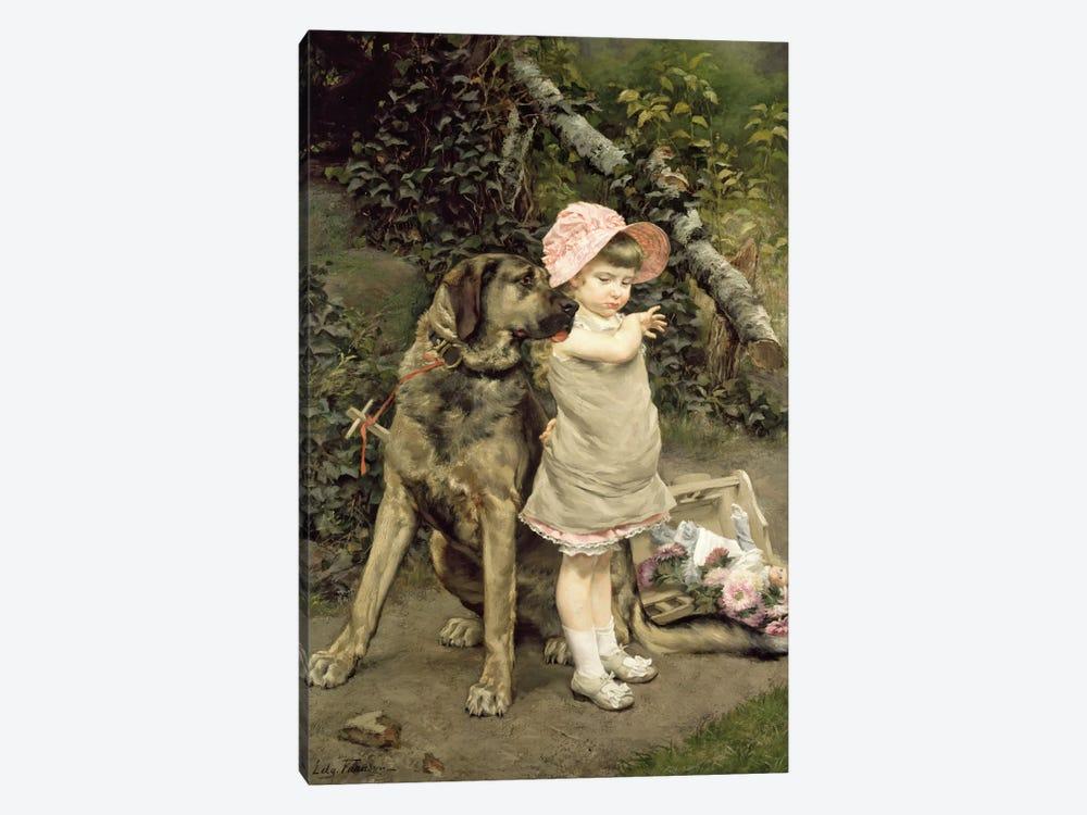 Dog's Company  by Edgard Farasyn 1-piece Canvas Art Print