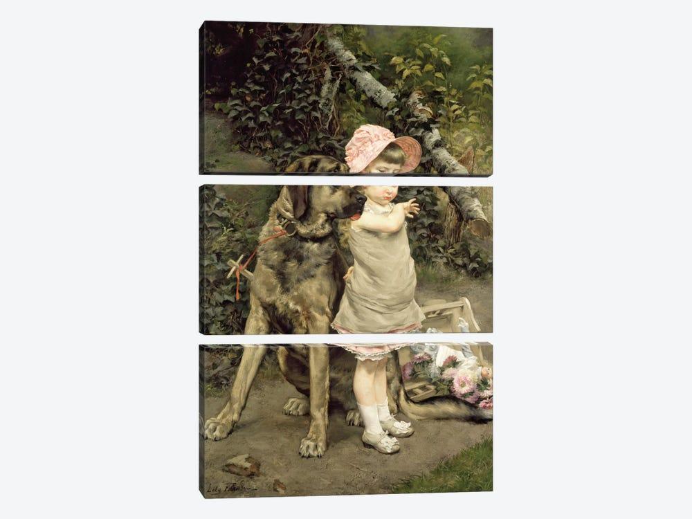 Dog's Company  by Edgard Farasyn 3-piece Art Print