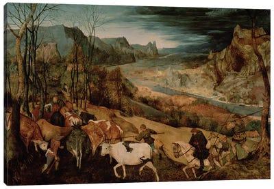 The Return of the Herd (Autumn) Canvas Art Print