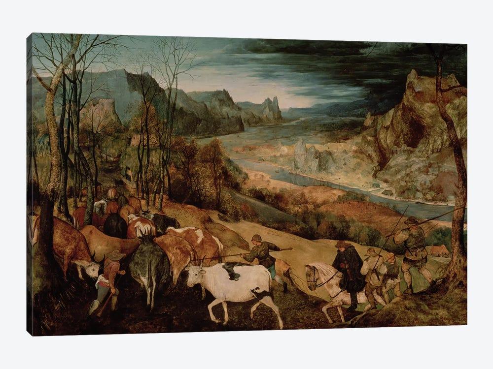 The Return of the Herd (Autumn) by Pieter Brueghel the Elder 1-piece Canvas Print