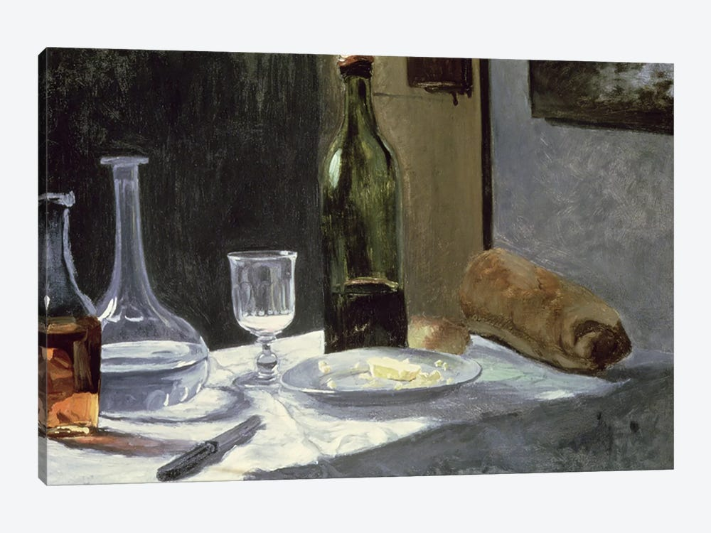 Still Life with Bottles, 1859 by Claude Monet 1-piece Canvas Print