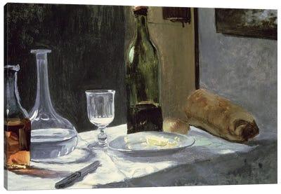 Still Life with Bottles, 1859  Canvas Art Print