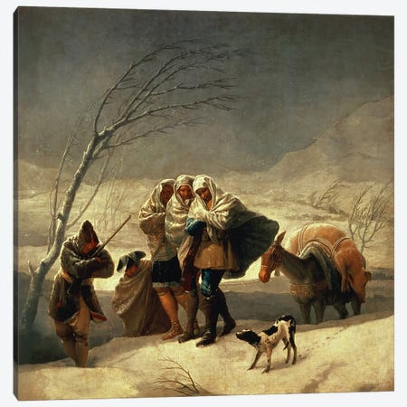 The Snowstorm, 1786-87  Canvas Print #BMN168} by Francisco Goya Art Print