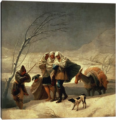 The Snowstorm, 1786-87  Canvas Art Print