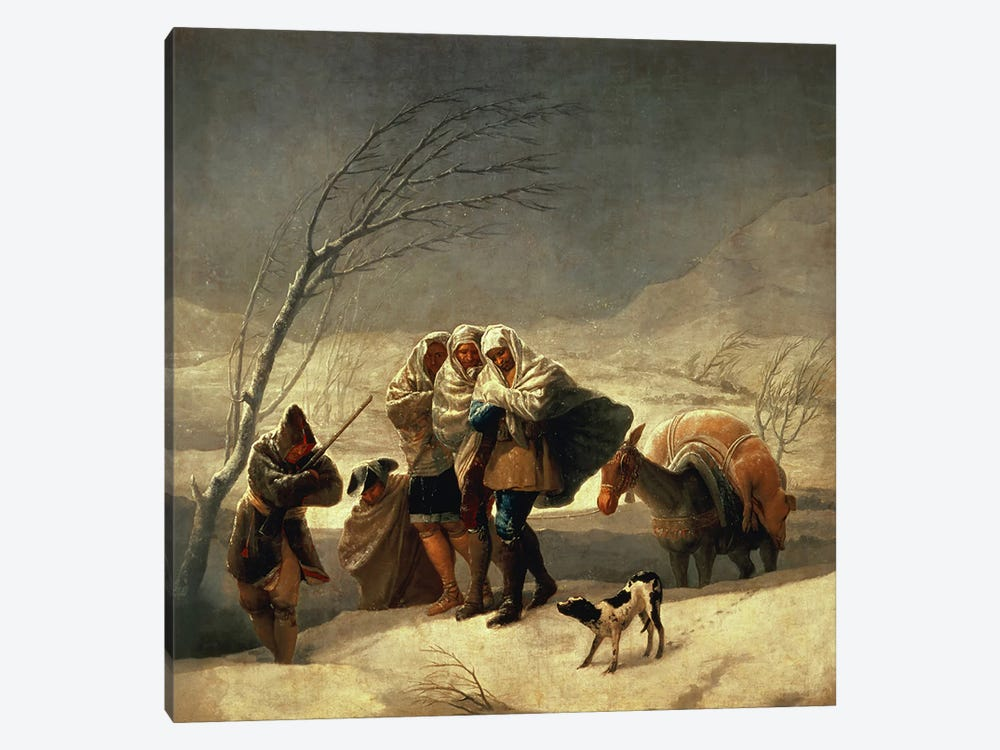 The Snowstorm, 1786-87  by Francisco Goya 1-piece Canvas Artwork