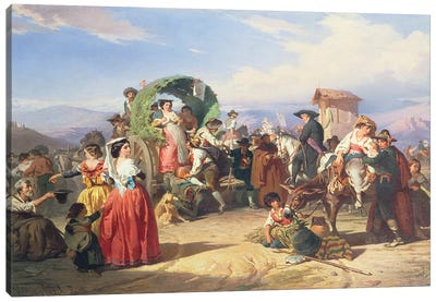 Peasants of the Campagna, 1860  Canvas Art Print
