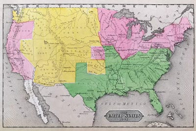 Map Of The United States In 1861 Our Whole American School - Map-of-the-us-in-1861