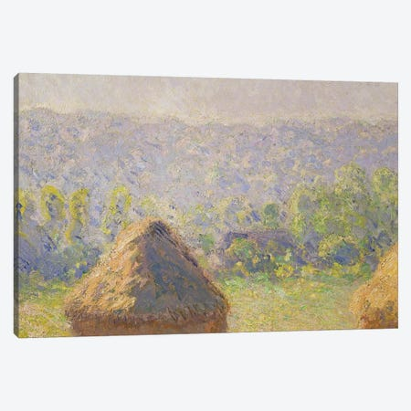 The Haystacks or, The End of the Summer, at Giverny, 1891   Canvas Print #BMN1698} by Claude Monet Art Print