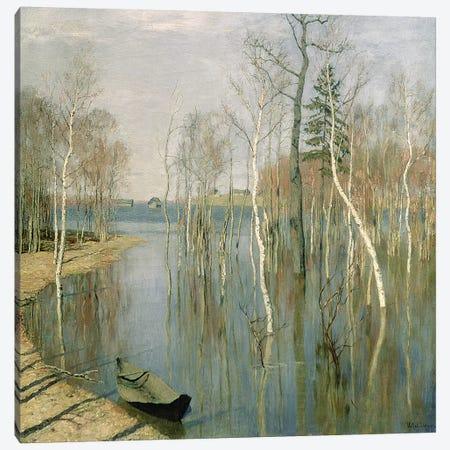 Spring, High Water, 1897  Canvas Print #BMN1699} by Isaak Ilyich Levitan Art Print