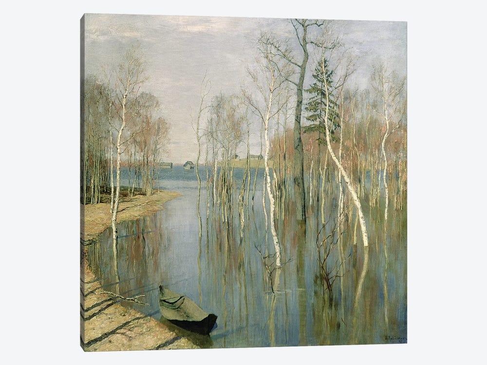 Spring, High Water, 1897  by Isaak Ilyich Levitan 1-piece Canvas Art Print
