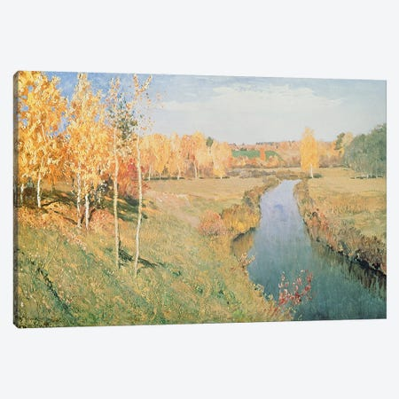 Golden Autumn, 1895  Canvas Print #BMN1700} by Isaak Ilyich Levitan Art Print