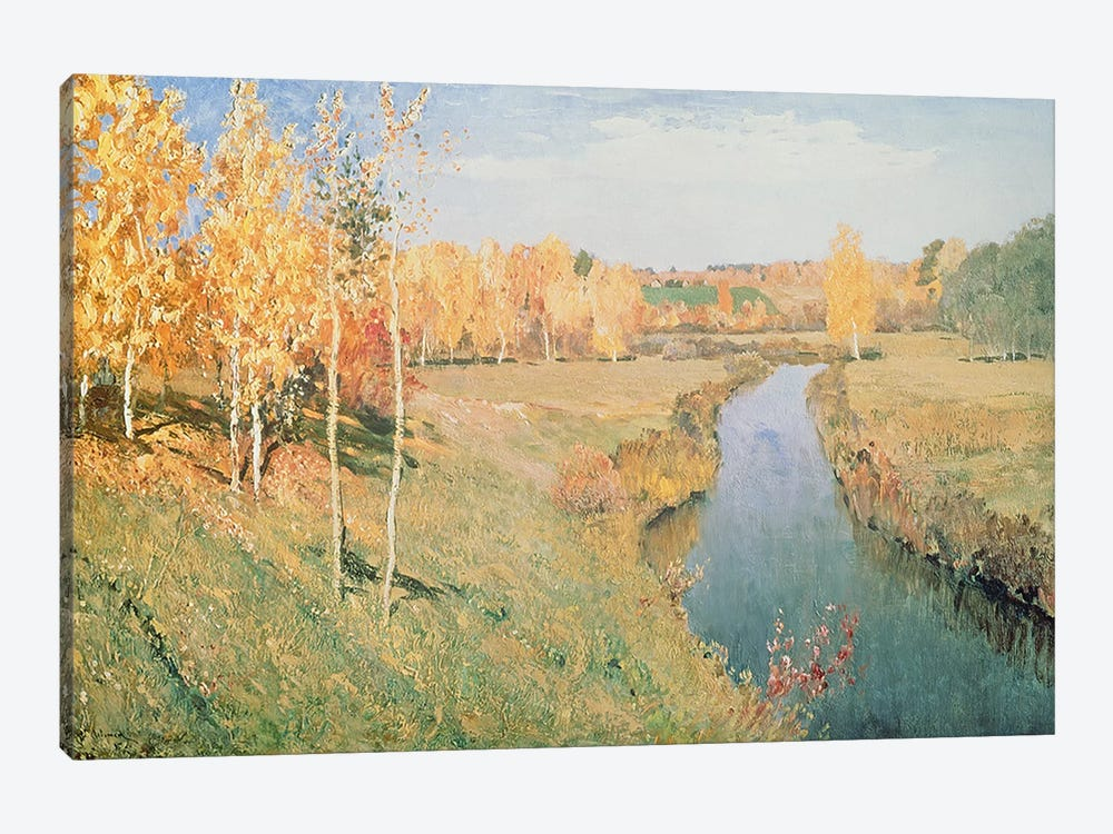 Golden Autumn, 1895  by Isaak Ilyich Levitan 1-piece Canvas Artwork