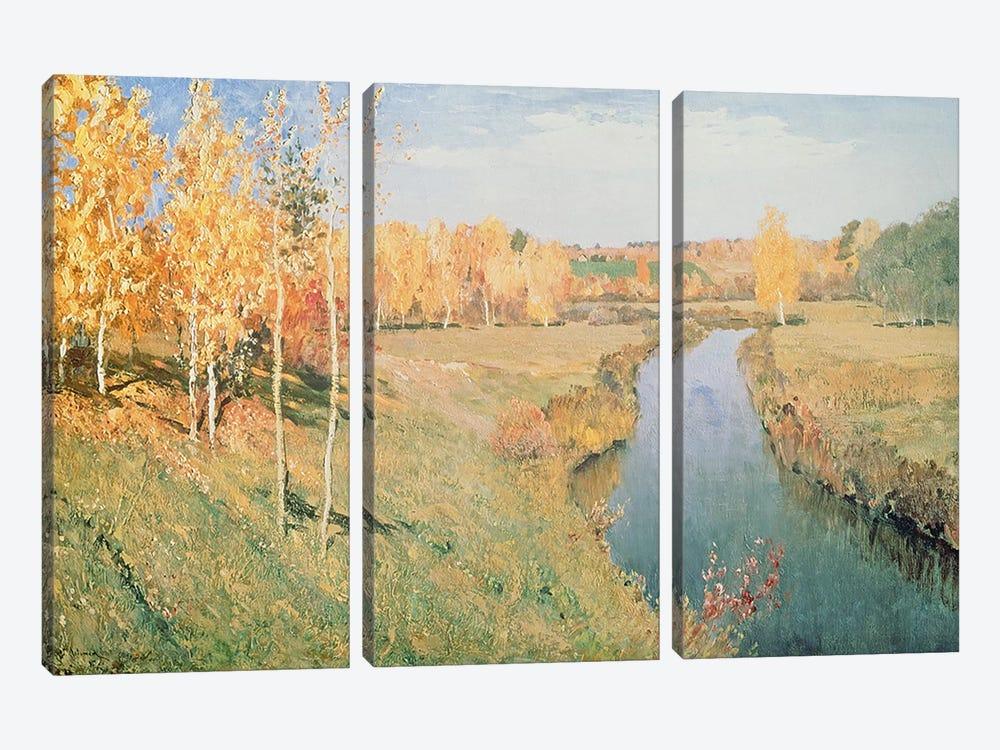 Golden Autumn, 1895  by Isaak Ilyich Levitan 3-piece Canvas Wall Art