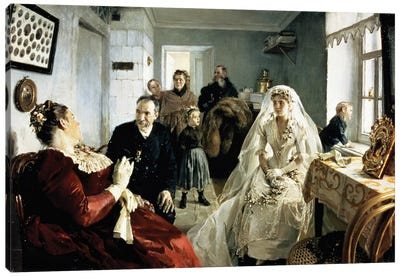 Before the Wedding, 1880s  Canvas Art Print