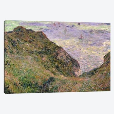 On the cliff at Pourville, 1882  Canvas Print #BMN1708} by Claude Monet Art Print