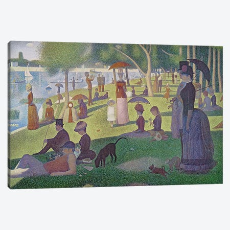 Sunday Afternoon on the Island of La Grande Jatte, 1884-86  Canvas Print #BMN170} by Georges Seurat Canvas Wall Art