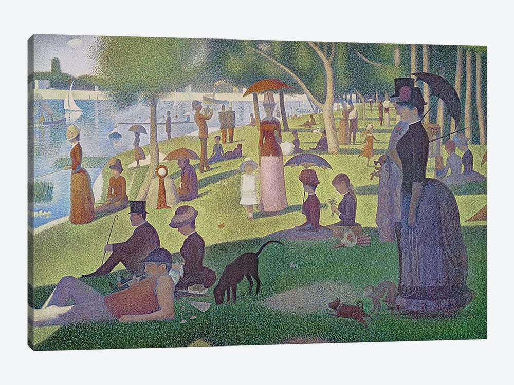 Sunday Afternoon on the Island of La Grande Jatte, 1884-86  by Georges Seurat 1-piece Canvas Print
