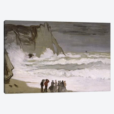 Rough Sea at Etretat, 1868-69  Canvas Print #BMN1713} by Claude Monet Canvas Art