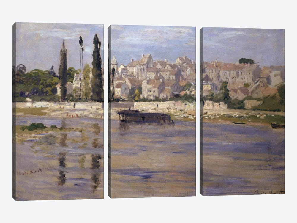 Carrieres-Saint-Denis, 1872 by Claude Monet 3-piece Canvas Print