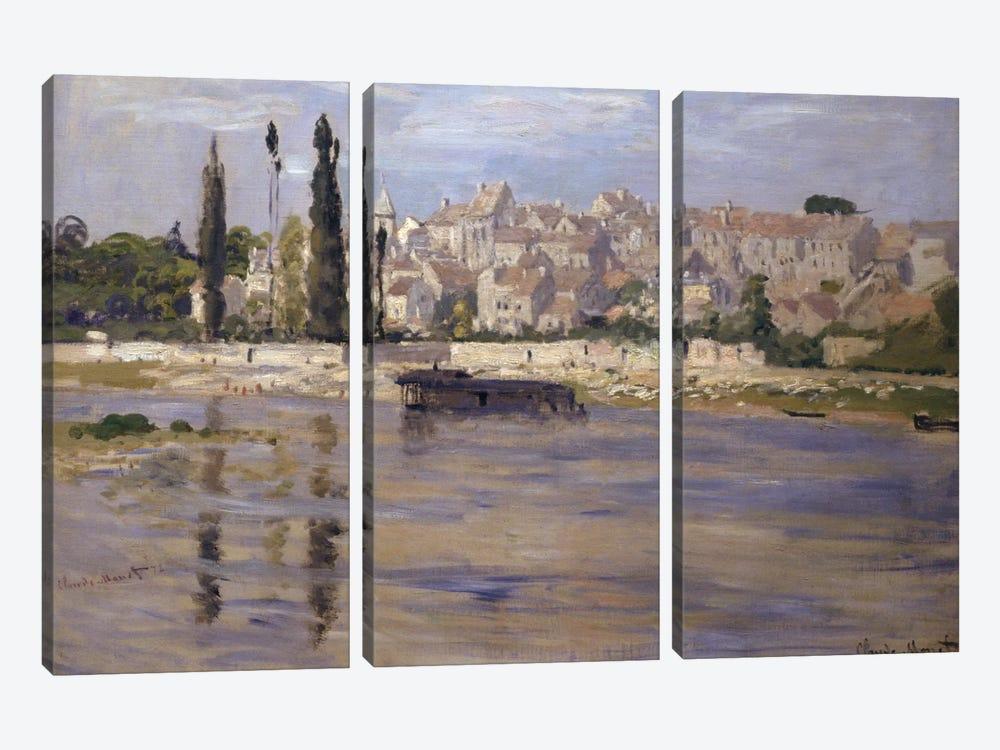 Carrieres-Saint-Denis, 1872  by Claude Monet 3-piece Canvas Print