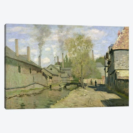 The Stream of Robec at Rouen, 1872  Canvas Print #BMN1715} by Claude Monet Canvas Art Print
