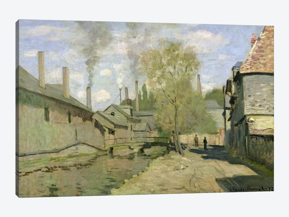 The Stream of Robec at Rouen, 1872 by Claude Monet 1-piece Canvas Art