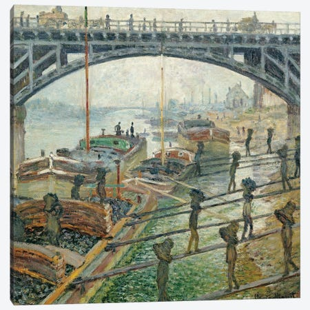The Coal Workers, 1875  Canvas Print #BMN1716} by Claude Monet Canvas Print