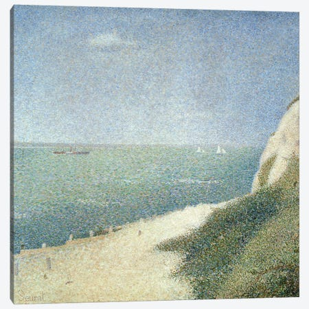 Beach at Bas Butin, Honfleur, 1886 Canvas Print #BMN171} by Georges Seurat Canvas Art