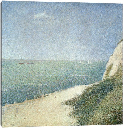 Beach at Bas Butin, Honfleur, 1886 Canvas Art Print