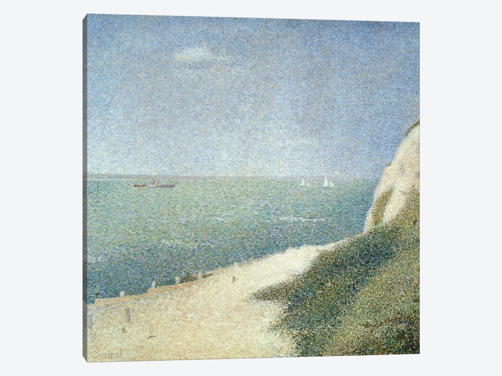 Beach at Bas Butin, Honfleur, 1886 by Georges Seurat 1-piece Canvas Wall Art