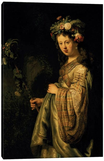 Saskia as Flora, 1634  Canvas Art Print