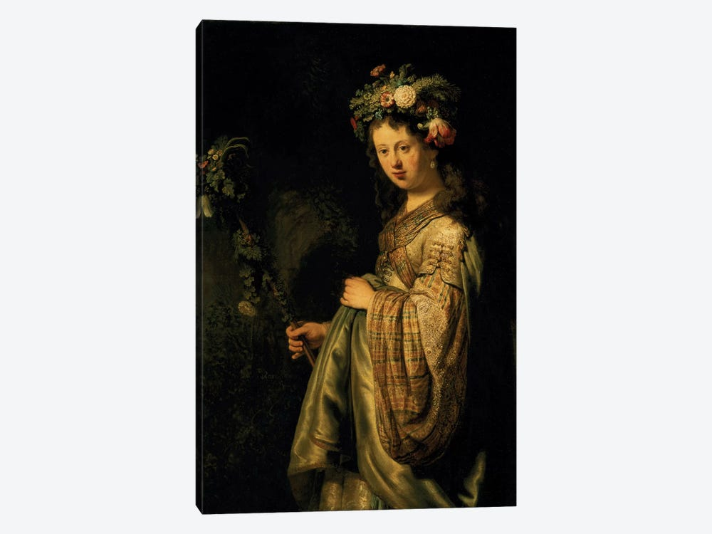 Saskia as Flora, 1634  by Rembrandt van Rijn 1-piece Art Print