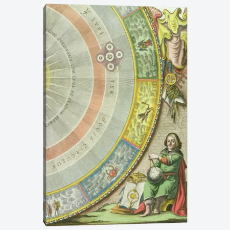 Nicolaus Copernicus  Canvas Print #BMN1731} by Andreas Cellarius Canvas Art