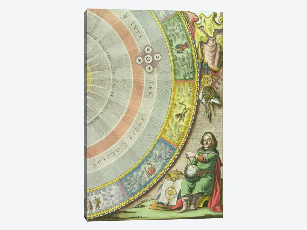 Nicolaus Copernicus  by Andreas Cellarius 1-piece Canvas Artwork