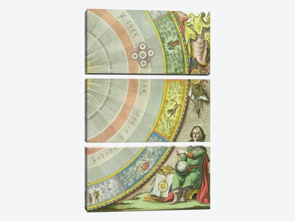 Nicolaus Copernicus by Andreas Cellarius 3-piece Canvas Wall Art