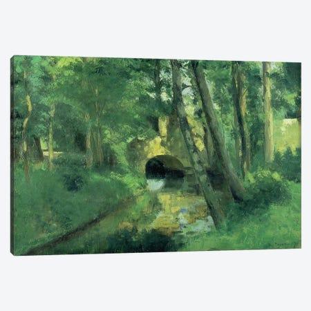 The Little Bridge, Pontoise, 1875 Canvas Print #BMN173} by Camille Pissarro Canvas Art